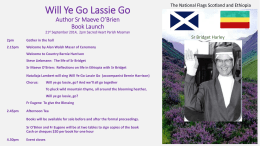 Will Ye Go Lassie Go Author Sister Maeve O*Brien Book Launch