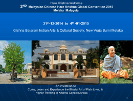 2 ND Malaysian Chinese Hare Krishna Global