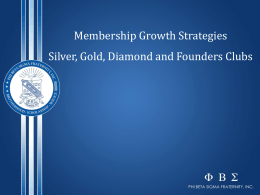 2015 CMDC | Silver, Gold, Platinum, Founder`s Membership Drive