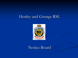 Digital Notice Board - Henley & Grange RSL