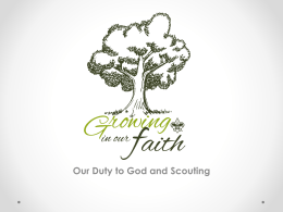 Our Duty to God and Scouting
