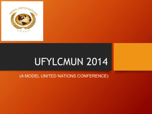 UFYLC MUN 2014 (A Model United Nations Conference )