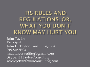 IRS Can Be a 4-Letter Word (If You Don*t Understand The Rules!)