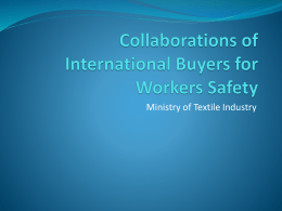 - RDA Cell Ministry of Textile Industry