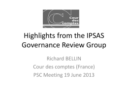 Highlights from the IPSAS Governance Review Group
