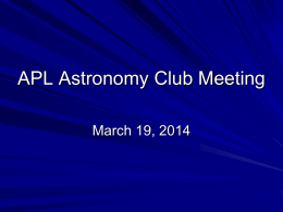 Astro Club March 2014 Meeting