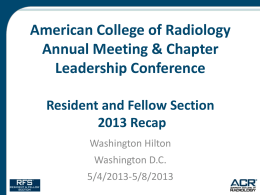 2013 RFS AMCLC Wrap-Up and Overview