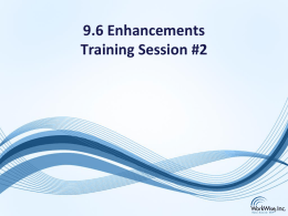 RB-ERP V9.6 Introduction (Session 2 PowerPoint