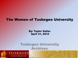 Women of Tuskegee University (Revised)