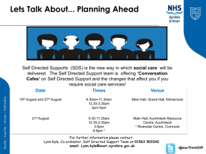 Self Directed Support - NHS Ayrshire and Arran.