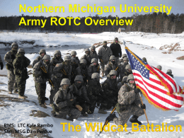 ARMY ROTC OVERVEIW - Northern Michigan University