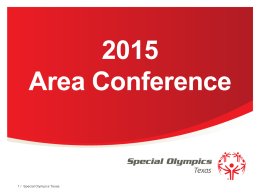Powerpoint - Special Olympics Texas