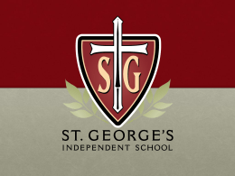 Financial Planning - St. George`s Independent School