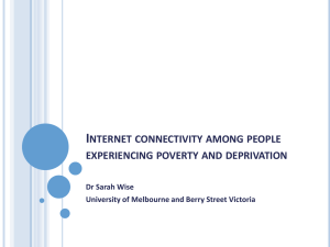 Internet connectivity among people experiencing poverty and