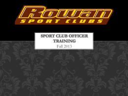Sport Club Staff Training