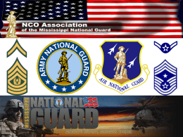 NCOAssociation BRIEF - The Mississippi National Guard NCO