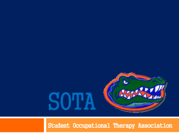 SOTA meeting5 - Student Occupational Therapy Association