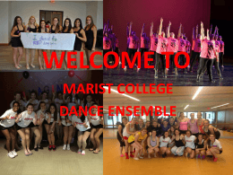 WELCOME BACK - Marist Clubs and Organizations