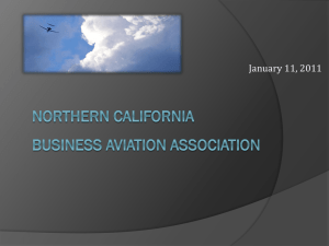 PowerPoint - Northern California Business Aviation Association