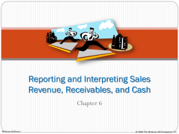 Reporting and Interpreting Sales Revenue