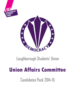 Candidates Pack - Loughborough Students` Union