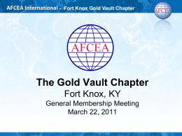 Fort Knox Gold Vault Chapter