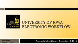 University of Iowa Electronic Workflow