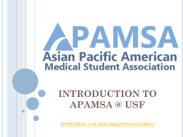 APAMSA introductory powerpoint