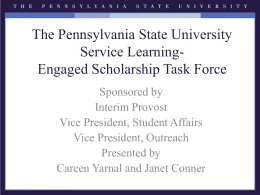Roadmap to Undergraduate Student Engagement*Providing