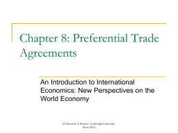 Chapter 8 - An Introduction to International Economics