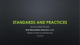 Standards and Practices - Federal Center