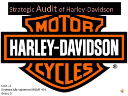 Strategic Audit of HD