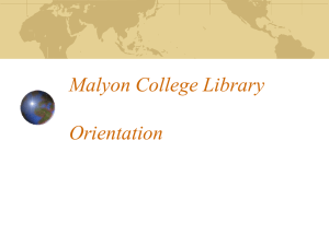 Journals - Malyon College