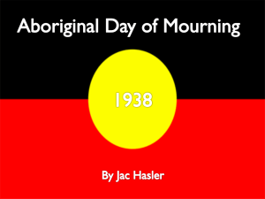Aboriginal Day of Mourning power point