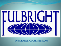 Fulbright INFO Slide Show