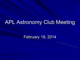 Astro Club February 2014 Meeting