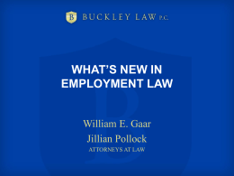 What`s New in Employment Law (PowerPoint)