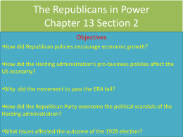 The Republicans in Power Chapter 13 Section 2