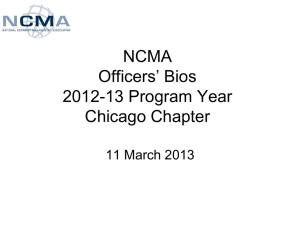 NCMA 2013-14 Chicago Chapter Leadership Bios Final 100213