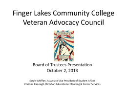 Finger Lakes Community College Veteran Advocacy Council