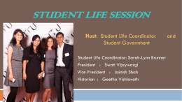 Student Life Session