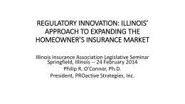 regulatory innovation - Insurance Industry Legislative Day