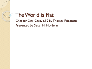 The World is Flat - Missouri State University