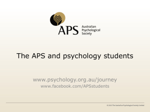 APS Matters - Australian Psychological Society