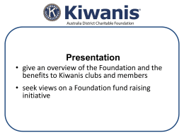 Charitable Foundation 2014 Convention Presentation