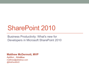 What`s new for Developers in Microsoft SharePoint 2010
