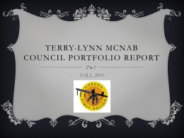 Council Portfolio Report Fall 2013