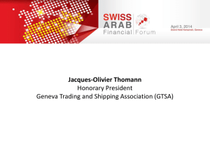Role of Switzerland as a hub for commodity trading and finance