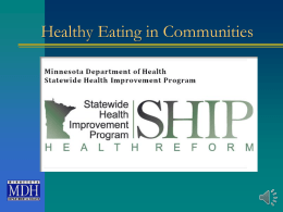 Healthy Eating in Communities - Minnesota Department of Health
