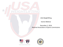About USA Weightlifting - National Association of Sports Commissions